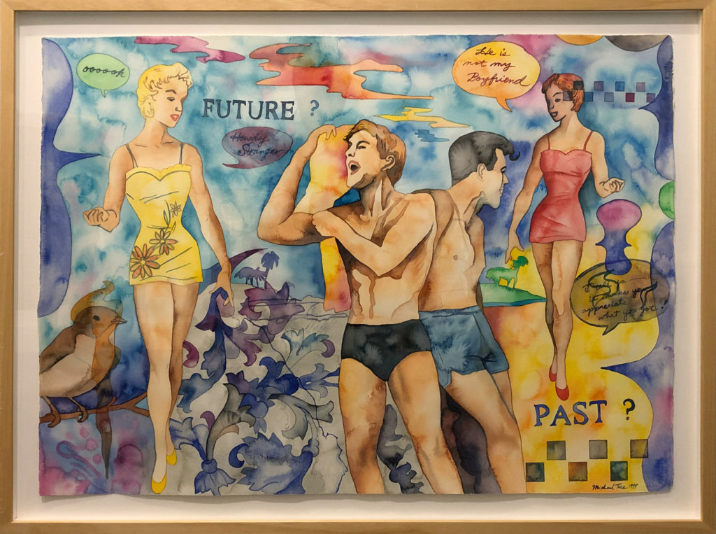 """Future? Past?  by Michael Tice 26"""" x 36"""" watercolor on paper1800"""