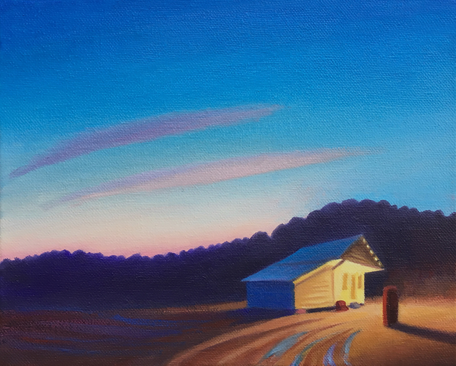 Twilight Memory by David Davenport, oil, 8 x 10 at Craven Allen Gallery
