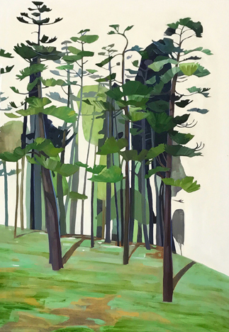 Untitled,  oil on canvas, 36×24  by Rachel Campbell at Craven Allen Gallery