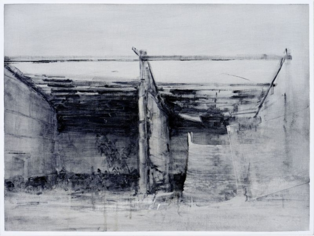 1991-oil on panel by Damian Stamer at Craven Allen Gallery