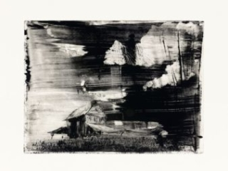 South-Lowell-MP-2-monoprint by Damian Stamer at Craven Allen Gallery
