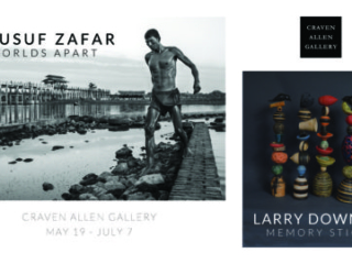 YOUSUF ZAFAR: WORLDS APART & LARRY DOWNING: MEMORY STICKS at Craven Allen Gallery