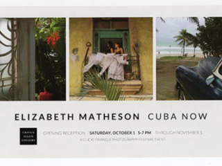 CUBA NOW: PHOTOGRAPHS BY ELIZABETH MATHESON and FINDING THE CURVE: WOODTURNING BY MARC BANKA  at Craven Allen Gallery