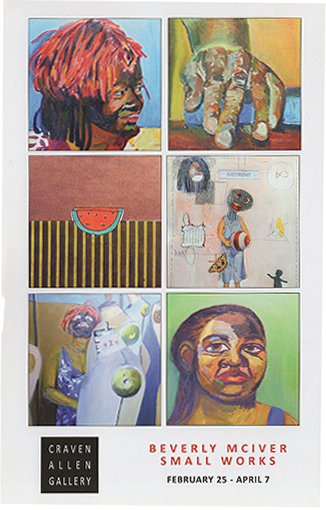 BEVERLY MCIVER: SMALL WORKS AT CRAVEN ALLEN GALLERY