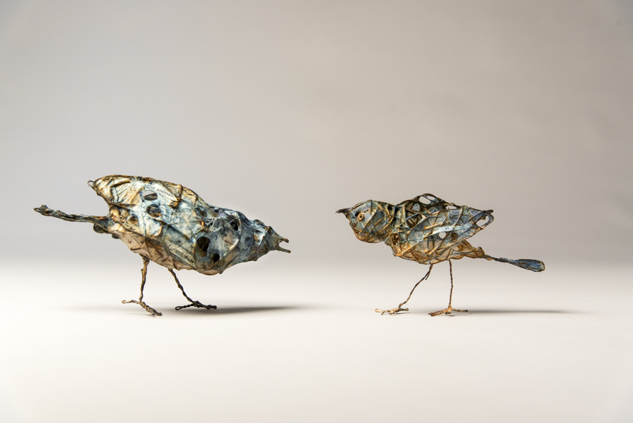 Paperbirds by Bryant Holsenbeck , mixed materials at Craven Allen Gallery