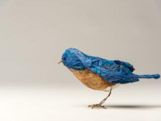 Blue Bird, mixed materials, by Bryant Holsenbeck at Craven Allen Gallery
