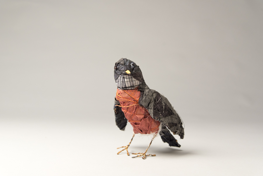 Robin, mixed materials, by Bryant Holsenbeck at Craven Allen Gallery