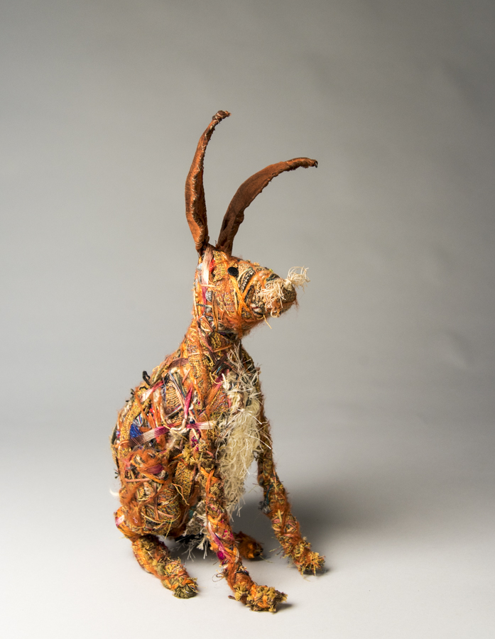 Hare, mixed materials, by Bryant Holsenbeck at Craven Allen Gallery