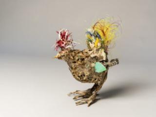 Chicken, mixed materials, by Bryant Holsenbeck at Craven Allen Gallery