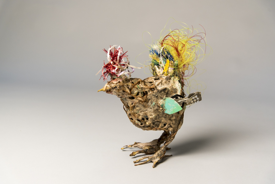 Chicken, mixed materials, by Bryant Holsenbeck at Craven Allen Gallery