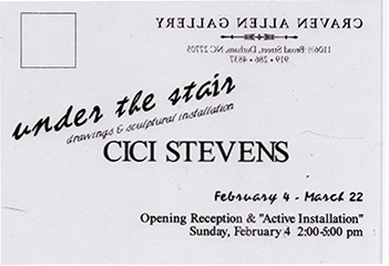 CICI STEVENS: UNDER THE STAIRS