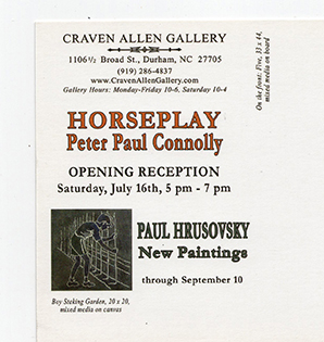 PETER PAUL CONNOLLY: HORSEPLAY WITH PAUL HRUSOVSKY