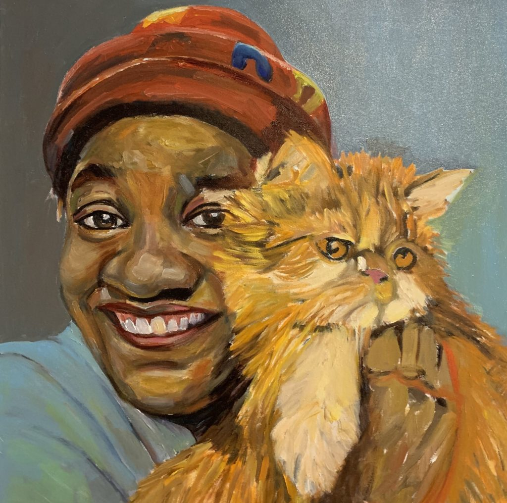 Self Portrait with Clydie (in progress) by Beverly McIver