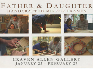 FATHER & DAUGHTER: HAND CRAFTED MIRROR FRAMES AT CRAVEN ALLEN GALLERY