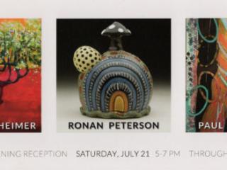 PEG BACHENHEIMER,  RONAN PETERSON, PAUL HRUSOVSKY at Craven Allen Gallery, Durham, NC