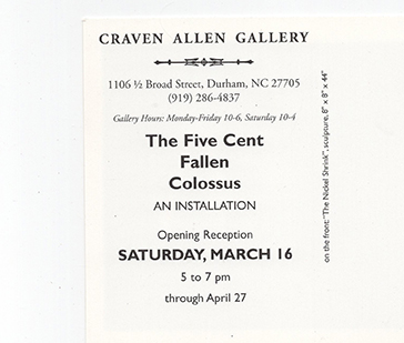 GEORGE JENNE: THE FIVE CENT FALLEN COLOSSUS