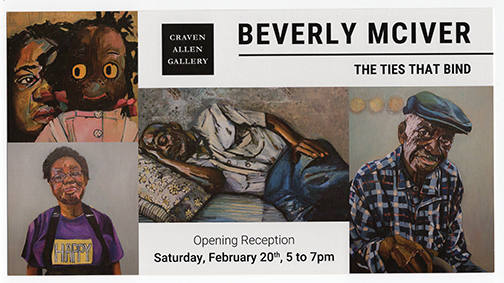 BEVERLY MCIVER: TIES THAT BIND At Craven Allen Gallery with Duke University Painting Students