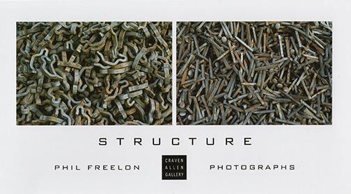 PHIL FREELON: STRUCTURE AT CRAVEN ALLEN GALLERY