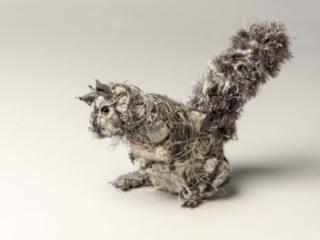 Squirrel, mixed matrials, by Bryant Holsenbeck at Craven Allen Gallery