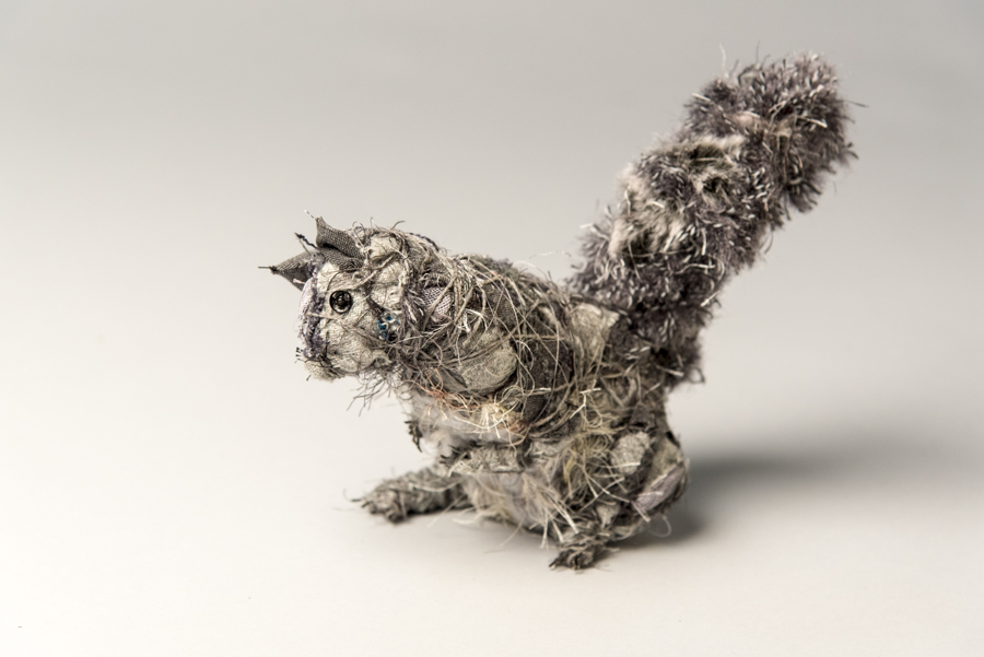 Squirrel, mixed matrials, by Bryant Holsenbeck at Craven Allen Gallery
