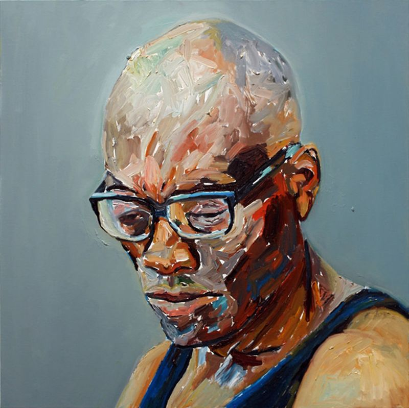 Bill T Jones, oil on canvas by Beverly McIver at Craven Allen Gallery